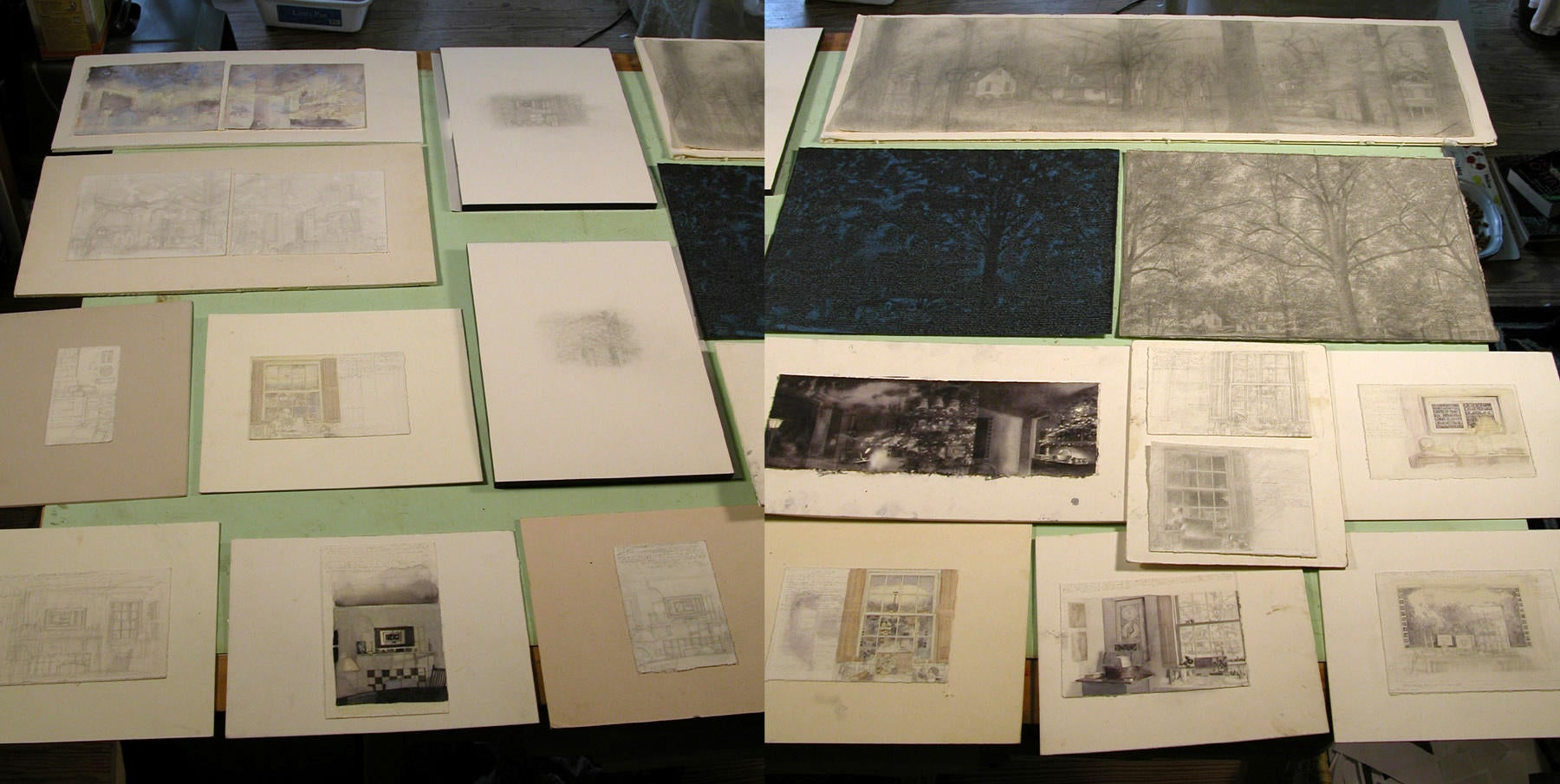 Photograph of Various Works in Progress image