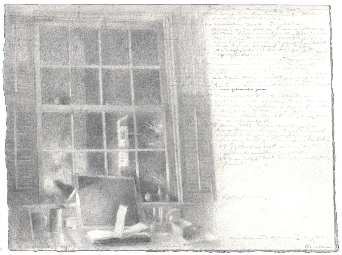 Window in Graphite I: 2 January 1986 - image