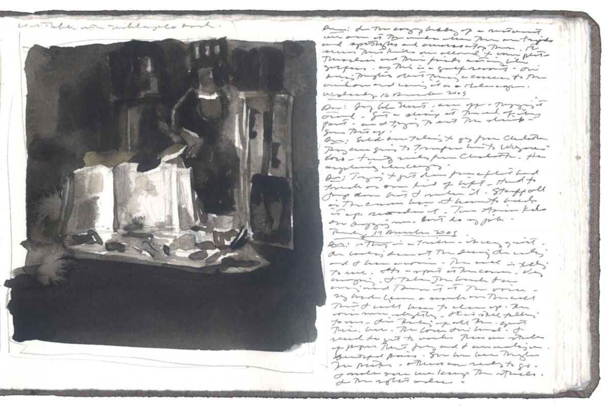 Study for Worktable with Michelangelo Book image
