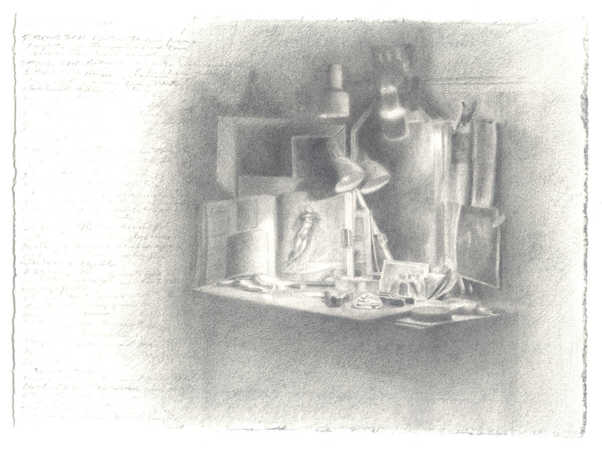 Worktable with Michelangelo Book image