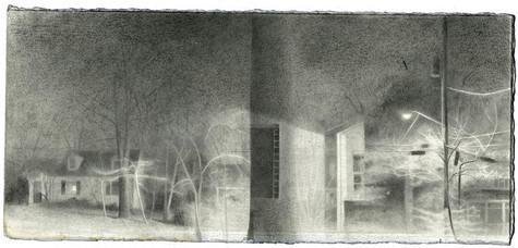 graphite and conte crayon on Fabriano paper