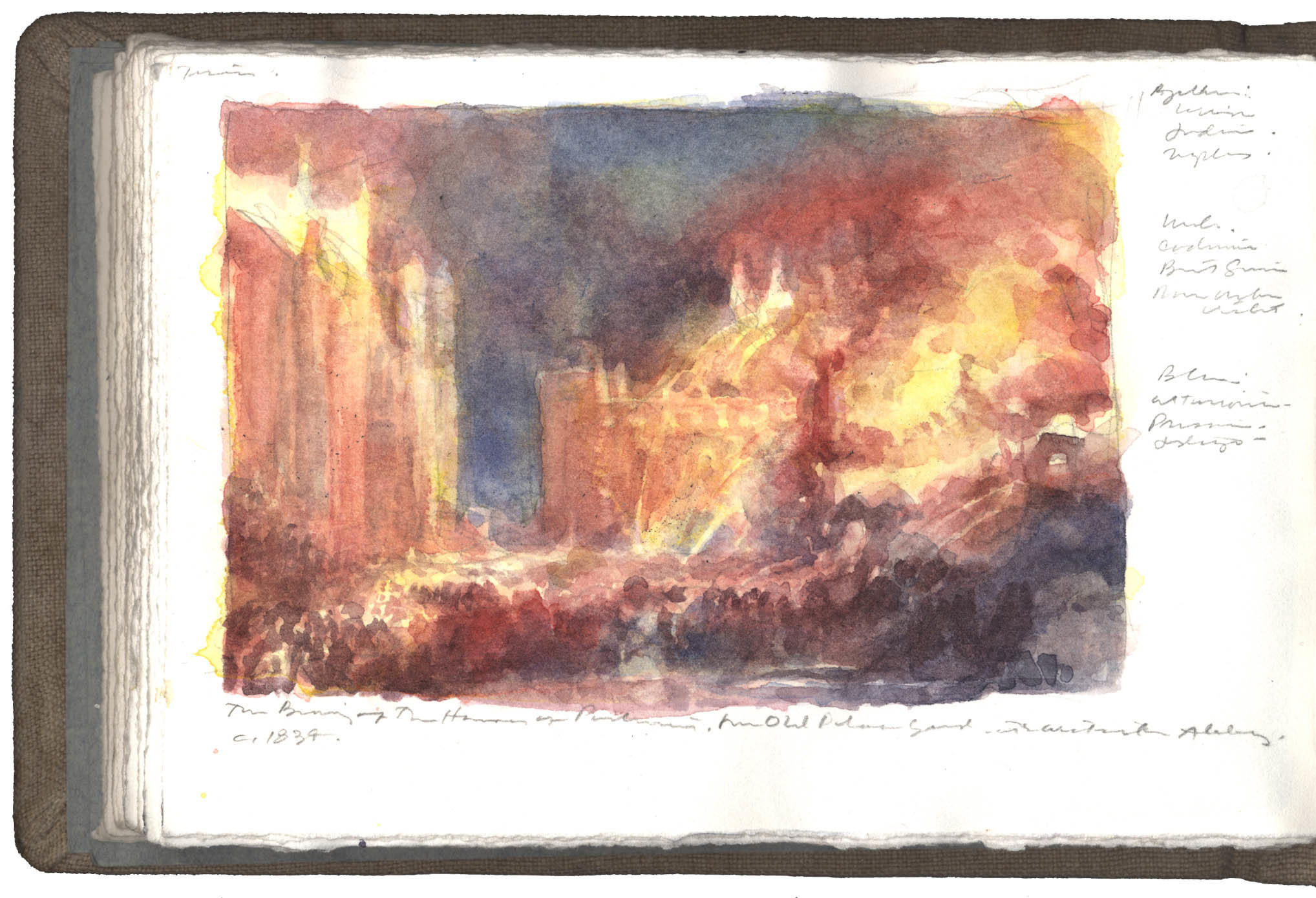 Copy of a watercolor by J.M.W. Turner image