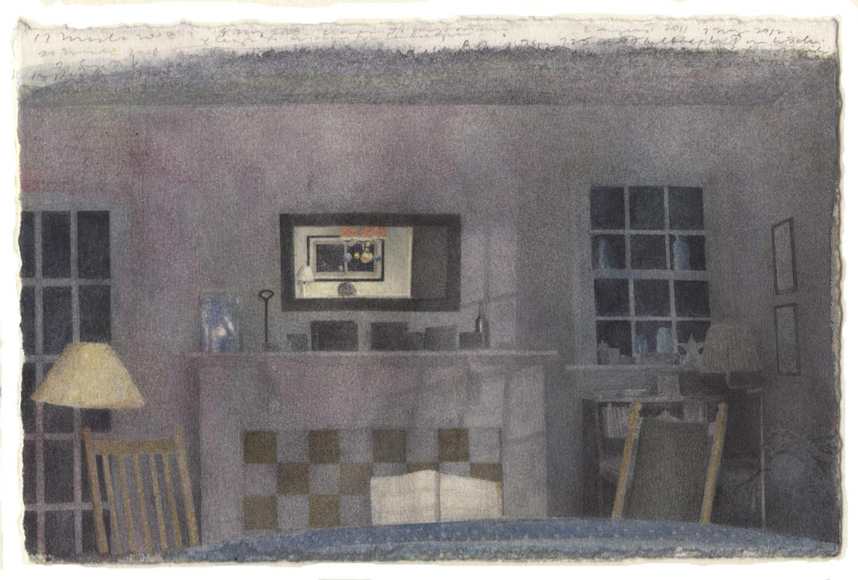 Dark Interior with Mirror image