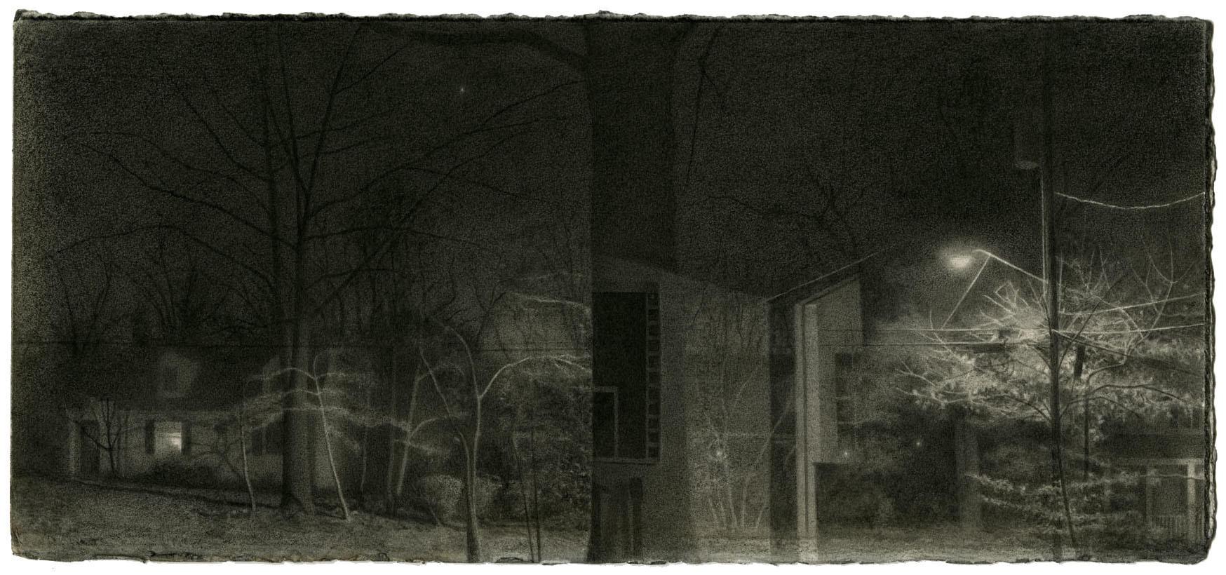 Landscape in Conte Crayon and Graphite image