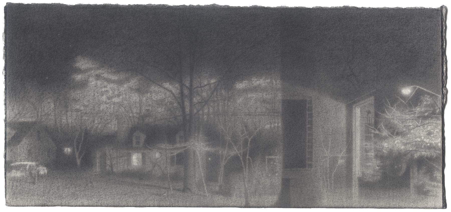 Self-Portrait with Night XI: Graphite image