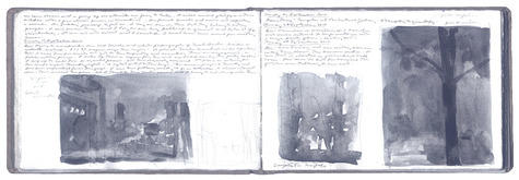 graphite and gum Arabic on Arches paper in bound volume