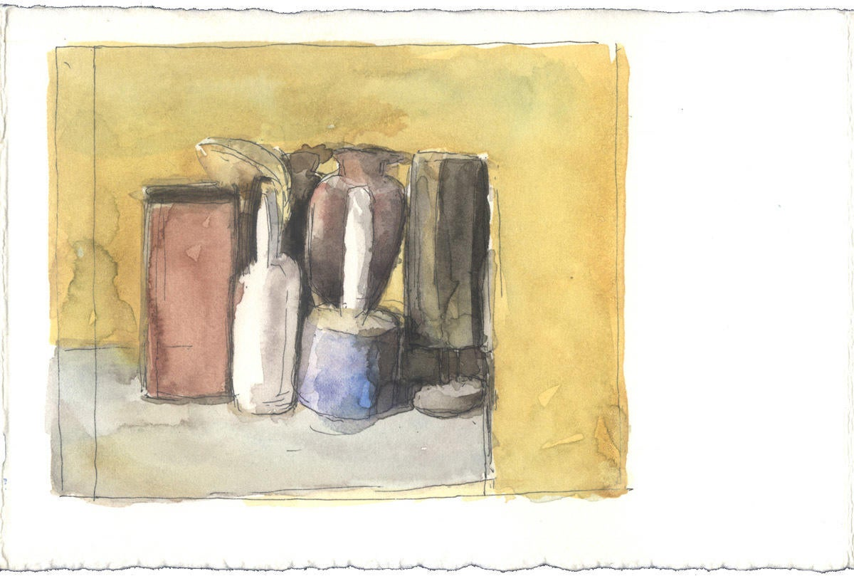 Study after an oil painting by Giorgio Morandi image