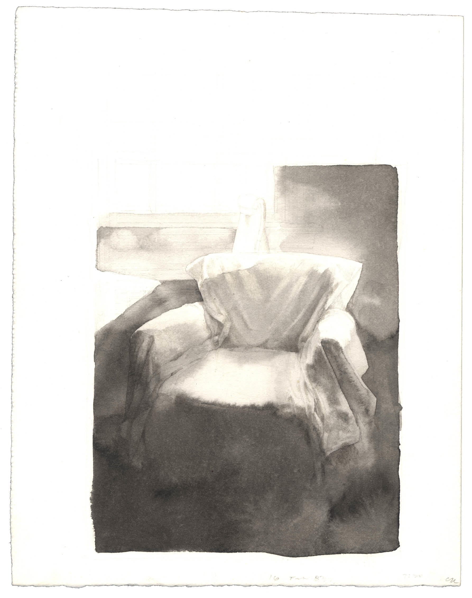 Study for Draped Chair: Watercolor image