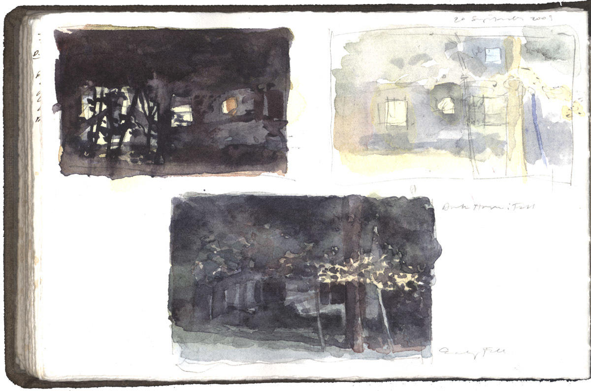 Three Studies of Houses and Trees: Early Fall image