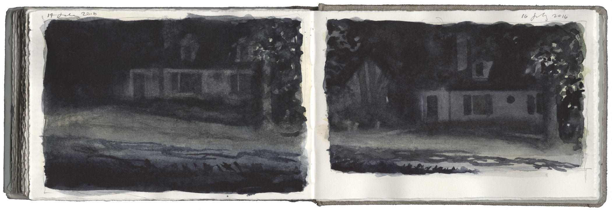 Two Studies of Dark Houses image